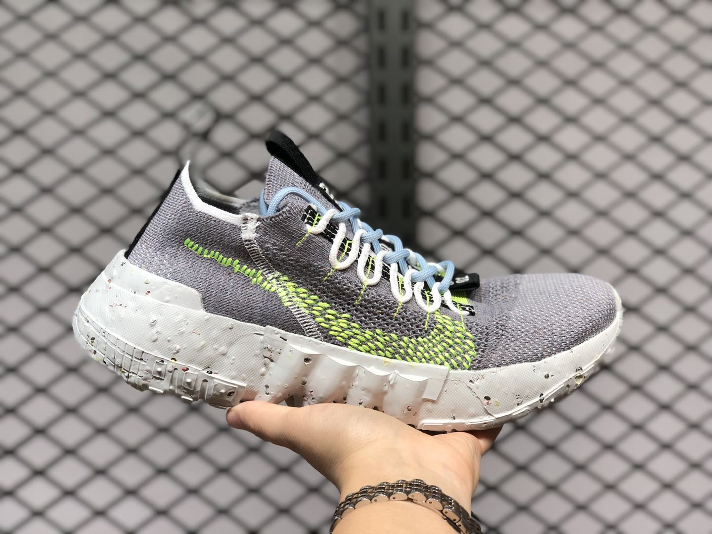 Nike Space Hippie 01 Grey/Volt Running Shoes CQ3986-002
