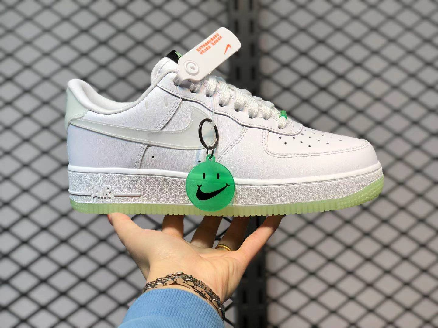 Glow-in-the-Dark Nike Air Force 1 Low Have A Nike Day White Neon Green