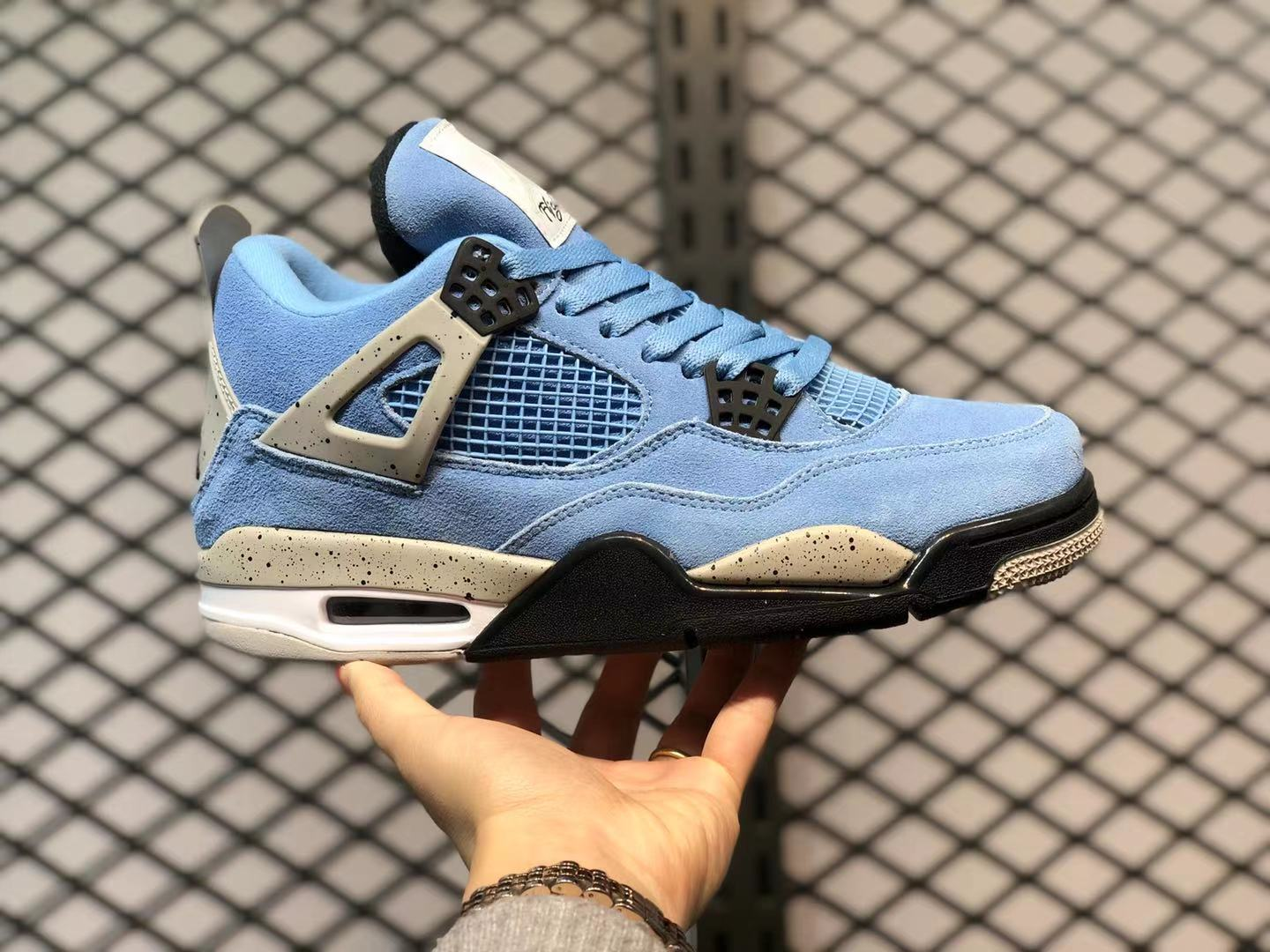 Air Jordan 4 SE University Blue Tech Grey-White-Black CT8527-400 For Sale