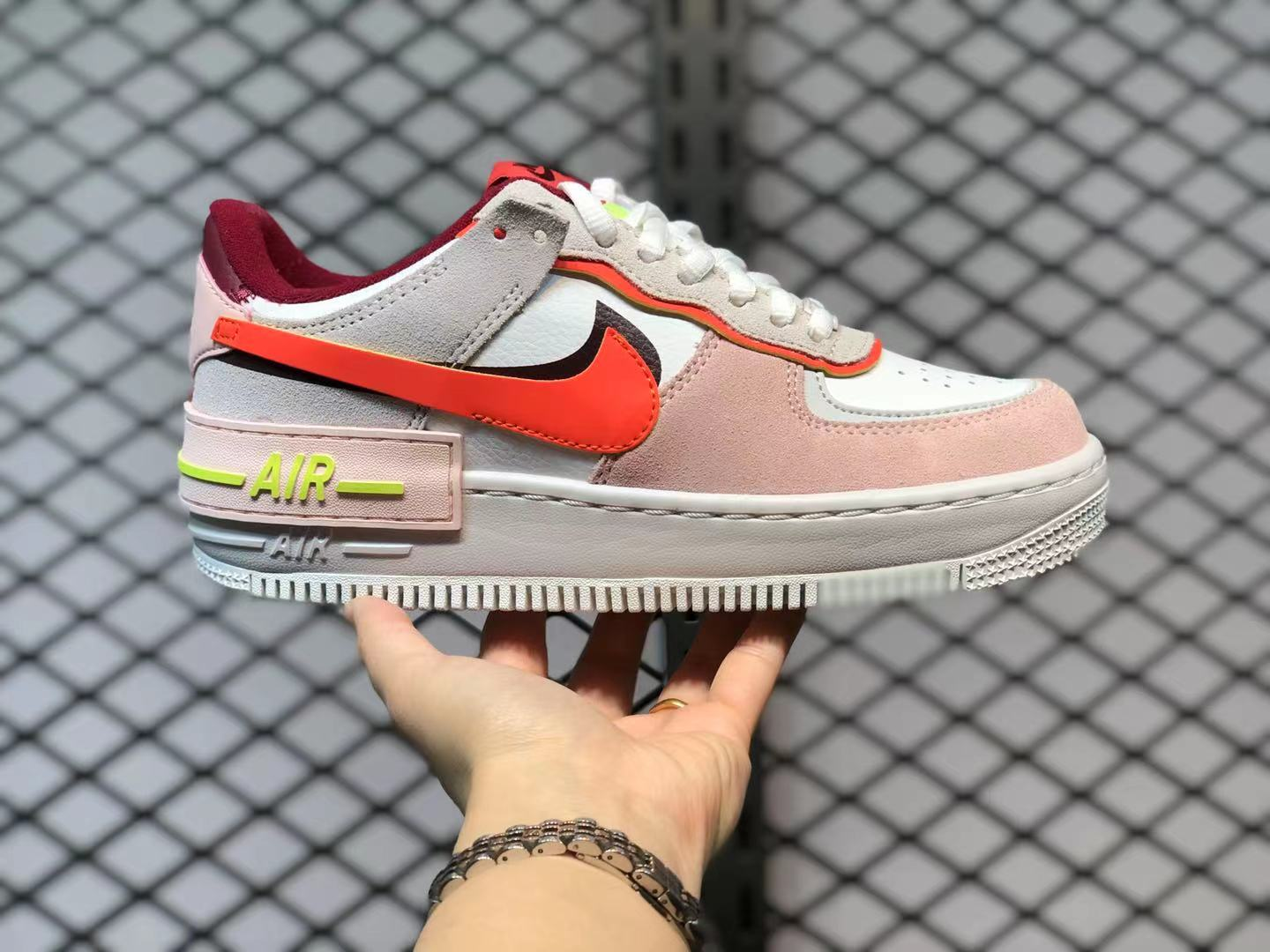 Nike Air Force 1 Shadow Team Red Orange Orange Pearl Volt