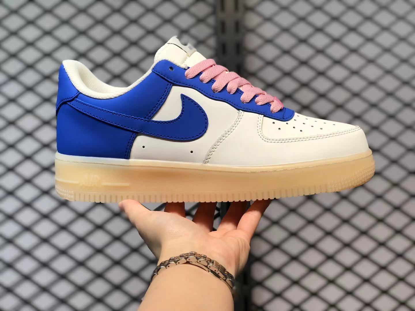Nike Air Force 1 Low White Blue Pink On Sale